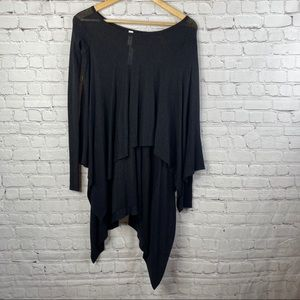 LULULEMON Black Sheer Hi-Low Long Sleeve Sweater 2